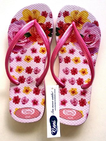 Chinelo Floral Rosa