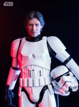 Star Wars : Han Solo in Stormtrooper Disguise - Art Scale 1/10
