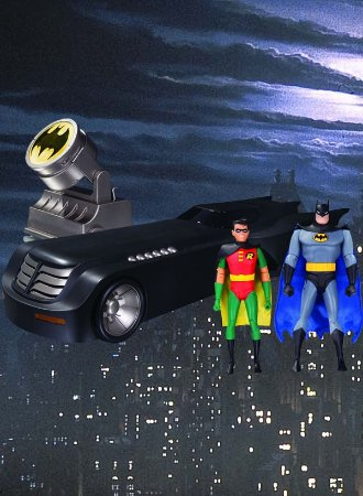 Batman Animated Batmobile with Batman & Robin - Deluxe Pack