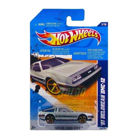 Hot Wheels - 81 Delorean DMC - 12 Prata - rodas FTE -  De volta para o futuro