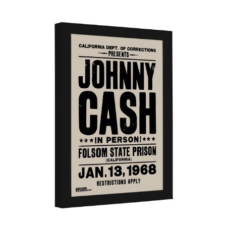Quadro Decorativo Johnny Cash Show