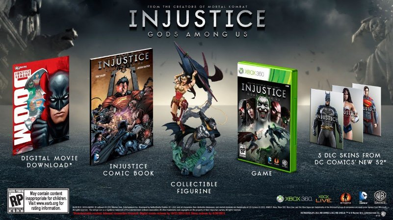 Injustice: Gods Among Us Collectors Edition Xboz 360
