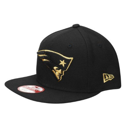 Boné New England Patriots 950 Gold on Black - New Era