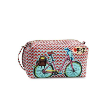 Necessaire Estampada Grande Love Bike