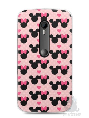 Capa Moto G3 Mickey e Minnie