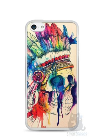 Capa Iphone 5C Caveira Indiana