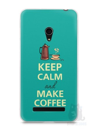 Capa Zenfone 5 Keep Calm and Make Coffee