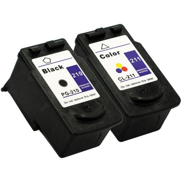 Kit Cartucho Canon PG210 Preto + CL211 Color Compativeis MP240 MP480
