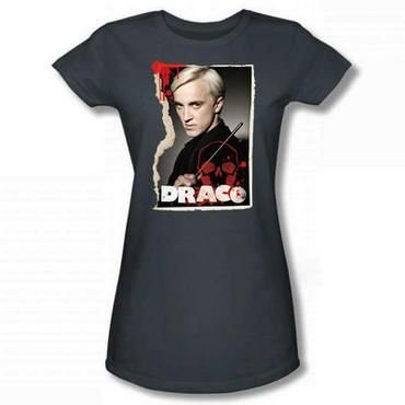 Exclusiva Camiseta Feminina Cinza Draco Malfoy Original Harry Potter