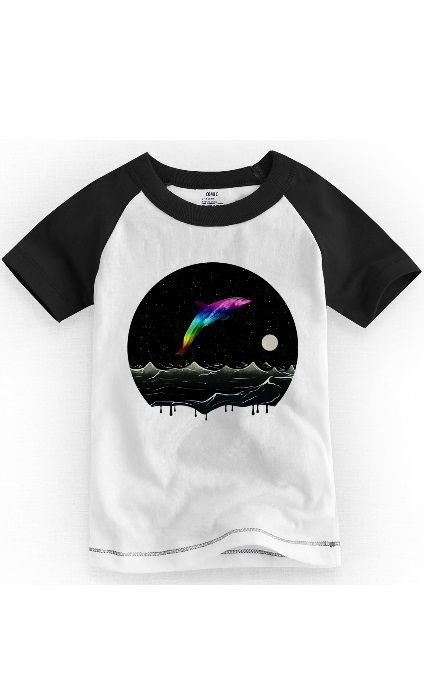 Camiseta Infantil Golfinho Night