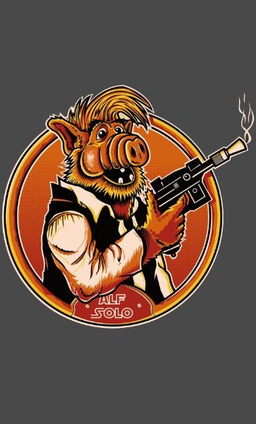 Camiseta Star Wars Alf Solo