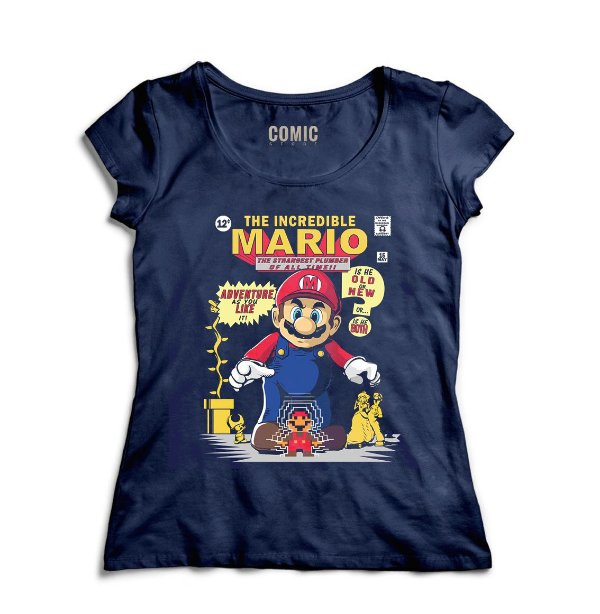 Camiseta Feminina The Incredible Mario