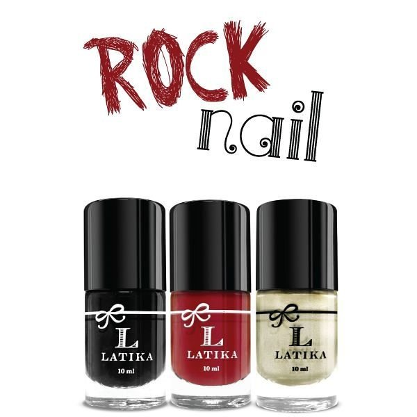 Kit Esmalte Latika Unha Decorada Rock Nail