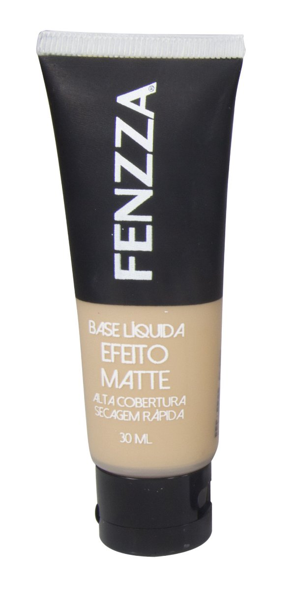 BASE LIQUIDA EFEITO MATTE FENZZA MAKE UP- BEGE CLARO